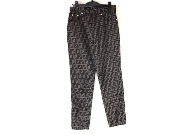 FENDI jeans(フェンディ) パンツ サイズ44 L レディース ズッカ柄 ブラウン×黒