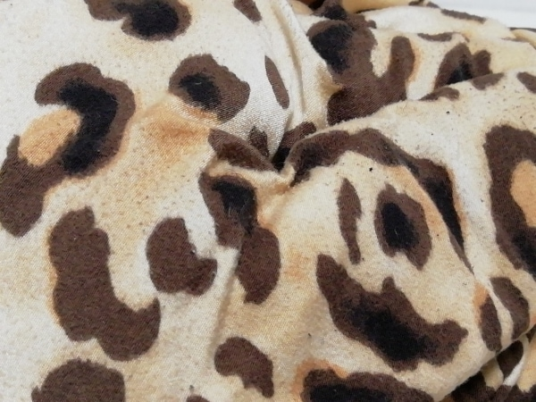 MUGUET(ミュゲ) トートバッグ ベージュ×ダークブラウン×黒 豹柄 化学繊維