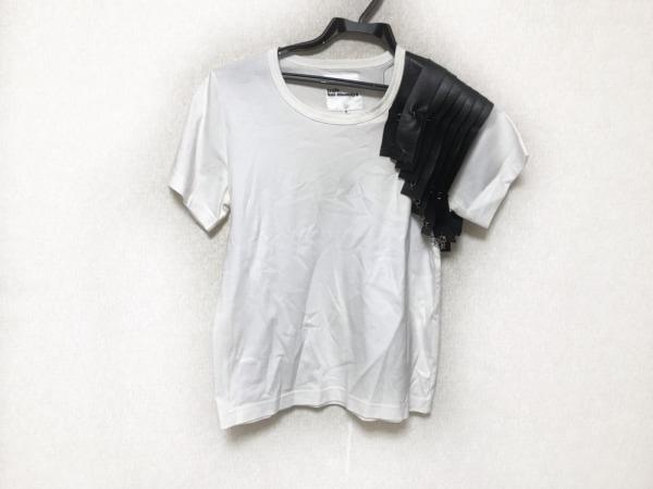 コムデギャルソンノワールケイニノミヤ 半袖Tシャツ サイズS レディース 白×黒