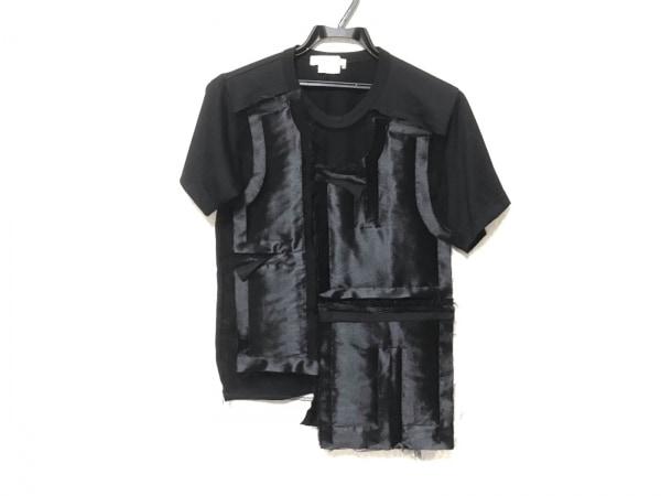 コムデギャルソン 半袖カットソー サイズS レディース 黒 メッシュ/切りっぱなし
