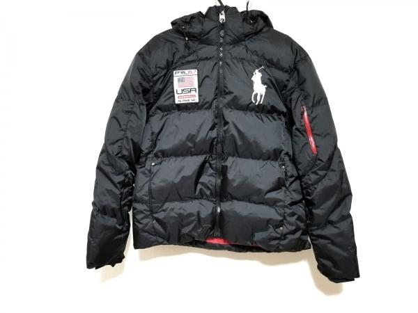 ポロラルフローレン ダウンジャケット サイズXL メンズ美品  ビッグポニー 黒 冬物