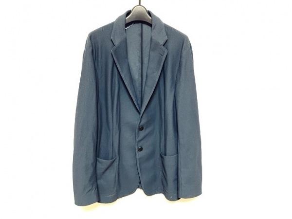 アルマーニコレッツォーニ ジャケット サイズ52 L メンズ美品  ダークグレー メッシュ