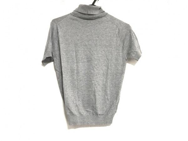 JOHN SMEDLEY(ジョンスメドレー) 半袖セーター サイズS レディース美品  ライトグレー