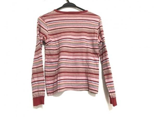 マーガレットハウエル 長袖Tシャツ サイズ2 M レディース美品  レッド×マルチ