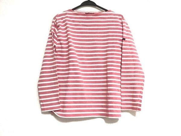 セントジェームス 長袖Tシャツ サイズSM レディース美品  ピンク×白 ボーダー