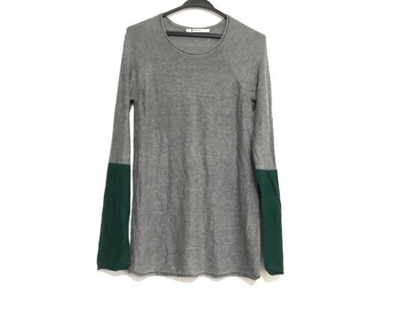 アレキサンダーワン 長袖セーター サイズXS レディース美品  グレー×グリーン