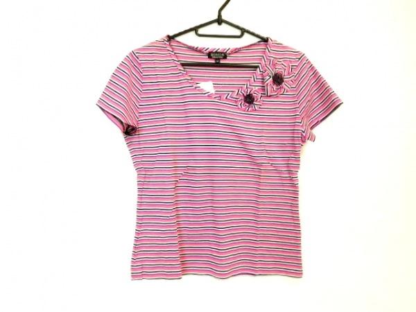 ソニアリキエル 半袖Tシャツ サイズ40 M レディース美品  ピンク×パープル×マルチ