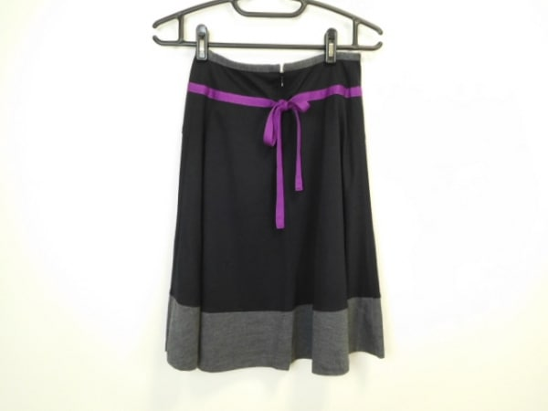 ソニアリキエル スカート サイズ38 M レディース美品  黒×グレー×パープル