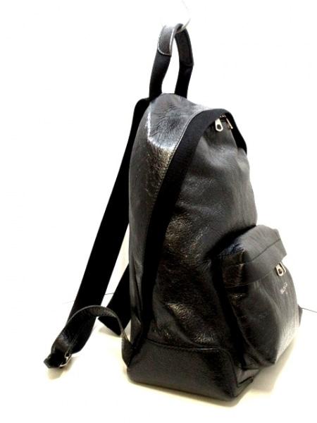 BALENCIAGA(バレンシアガ) リュックサック ネイビーバックパック 409010 黒 レザー