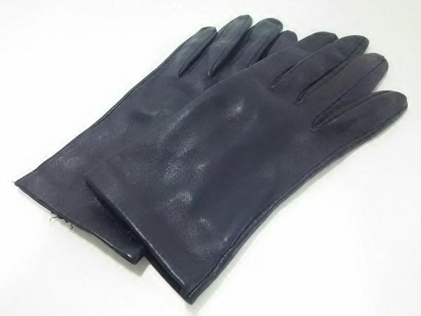 Sermoneta gloves(セルモネータグローブス) 手袋 7 レディース美品  パープル レザー