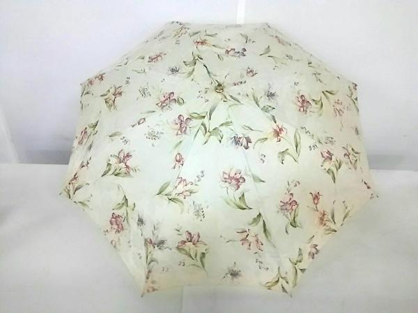 ロイヤルウースター 日傘 アイボリー×カーキ×マルチ 花柄/晴雨兼用/紫外線防止加工
