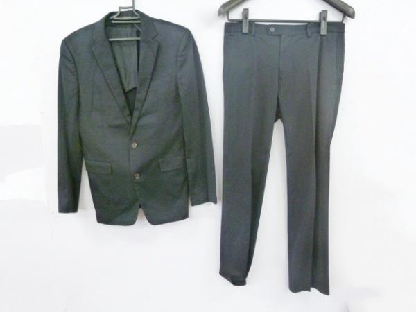 COMME CA MEN(コムサメン) シングルスーツ サイズ46 XL メンズ 黒 シングル