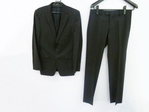 COMME CA MEN(コムサメン) シングルスーツ メンズ美品  黒 シングル/光沢感あり