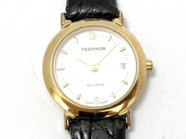 TECHNOS(テクノス) 腕時計 231390.30 レディース 革ベルト アイボリー