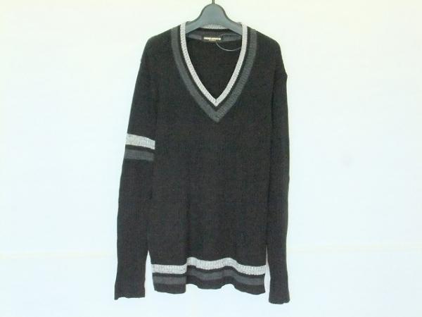 HIDEAWAYS NICOLE(ハイダウェイニコル) 長袖セーター サイズ50 メンズ 黒×グレー