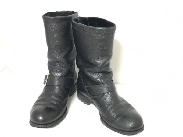 JIMMY CHOO(ジミーチュウ) ブーツ 36 2/1 レディース 黒 ラメ レザー