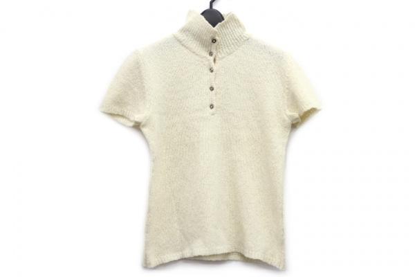 クリッツィアマグリア 半袖セーター サイズ42 L レディース アイボリー ハイネック
