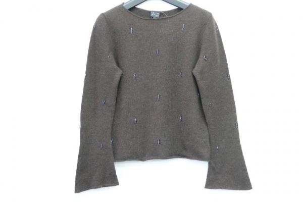クリッツィアマグリア 長袖セーター サイズ42 L レディース美品  ダークブラウン