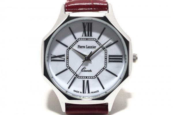 PierreLannier(ピエールラニエ) 腕時計美品  470A8 レディース 白×シルバー