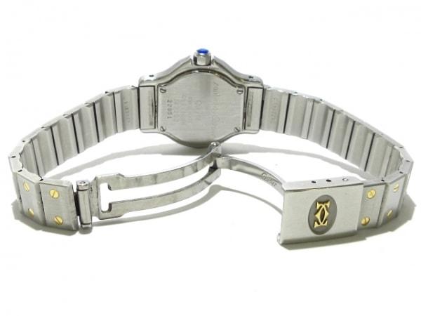 カルティエ 腕時計 サントスオクタゴンSM - レディース SS×K18YG アイボリー