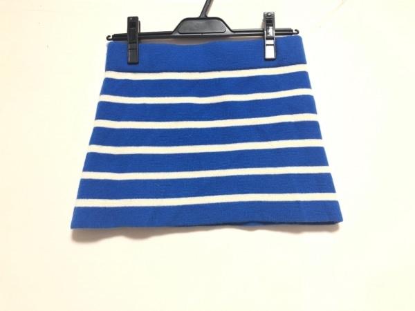 demylee(デミリー) ミニスカート サイズXS レディース ブルー×白 ボーダー