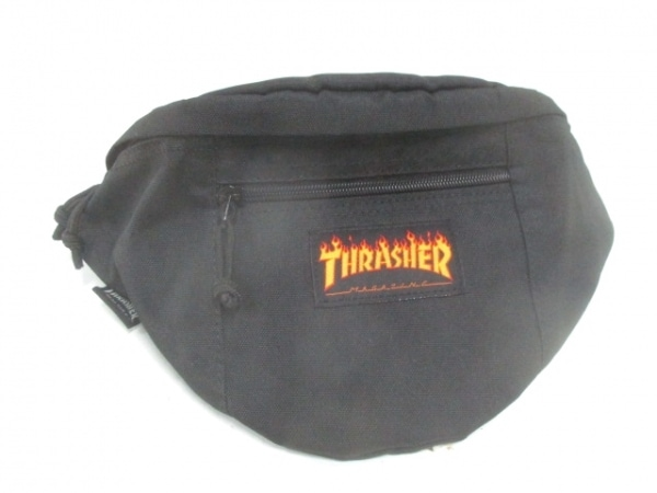 THRASHER(スラッシャー) ウエストポーチ 黒 ナイロン