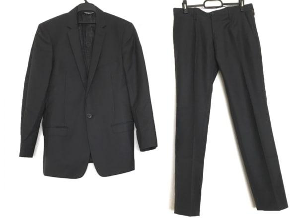ドルチェアンドガッバーナ シングルスーツ メンズ 黒 千鳥格子/MARTINI