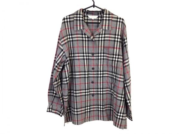 バーバリーズ ジャケット サイズ15 L レディース美品  グレー×黒×マルチ チェック柄