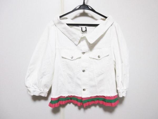 aviu(アヴィウ) ジャケット サイズS レディース 白×ピンク×マルチ