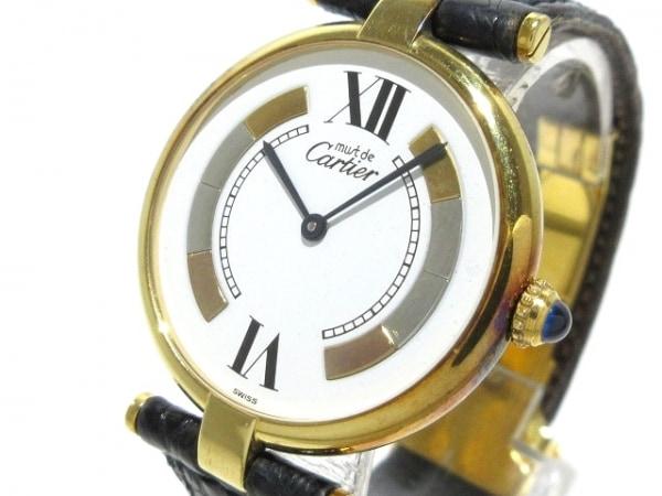 Cartier(カルティエ) 腕時計 マストヴァンドームヴェルメイユ - レディース 白