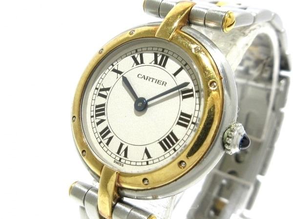 カルティエ 腕時計 パンテールヴァンドーム - レディース SS×K18YG/1ロウ 白