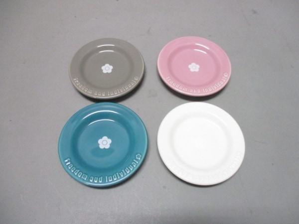 マリークワント プレート新品同様  ピンク×マルチ ミニプレート4枚セット 陶器