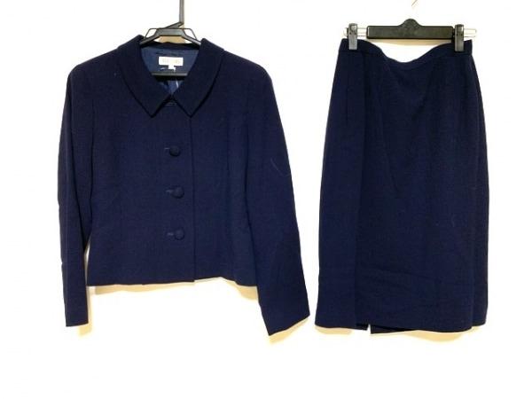 YUKITORII(ユキトリイ) スカートスーツ サイズ9 M レディース美品  ネイビー