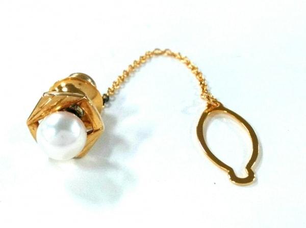 mikimoto(ミキモト) ネクタイピン パール×K18YG×金属素材 ゴールド×白