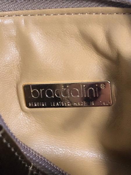braccialini(ブラッチャリーニ) ショルダーバッグ ダークグリーン×オレンジ レザー