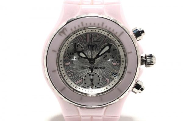 テクノマリーン 腕時計 - レディース クロノグラフ/回転ベゼル シルバー