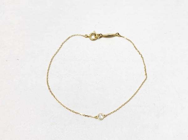 AHKAH(アーカー) ブレスレット美品  K18YG×ダイヤモンド 1Pダイヤ/0.06カラット