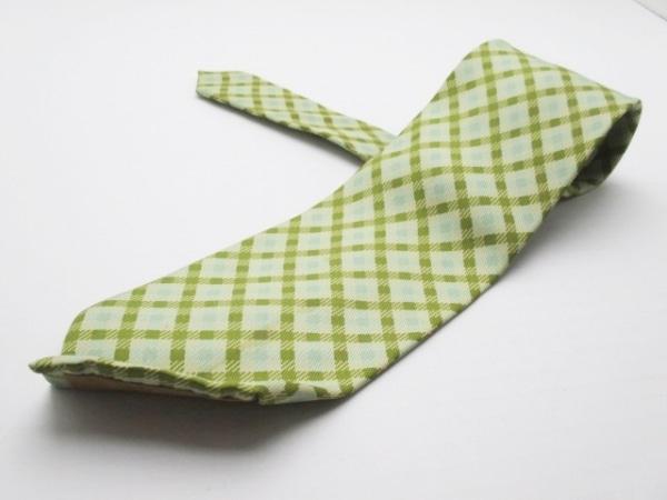 バーバリーズ ネクタイ メンズ グリーン×ダークグリーン×ライトグリーン チェック柄