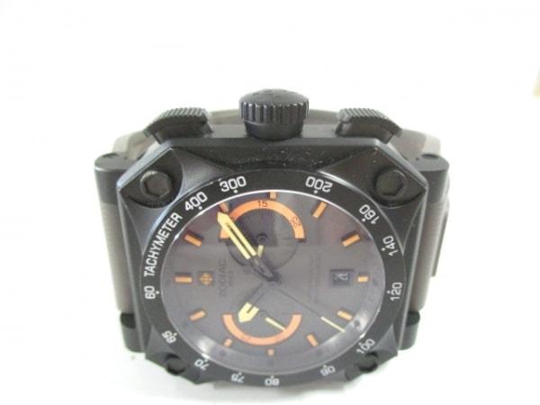 ゾディアック 腕時計美品  ZO3537 メンズ クロノグラフ/ラバーベルト ダークグレー