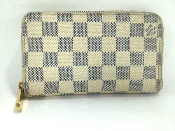 ルイヴィトン 2つ折り財布 ダミエ ジッピー・コンパクト ウォレット N60029 アズール