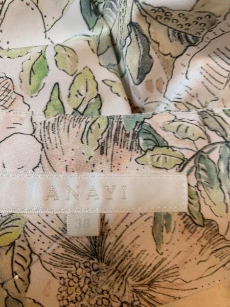 アナイ スカート サイズ38 M レディース美品  ベージュ×ライトグリーン×マルチ 花柄
