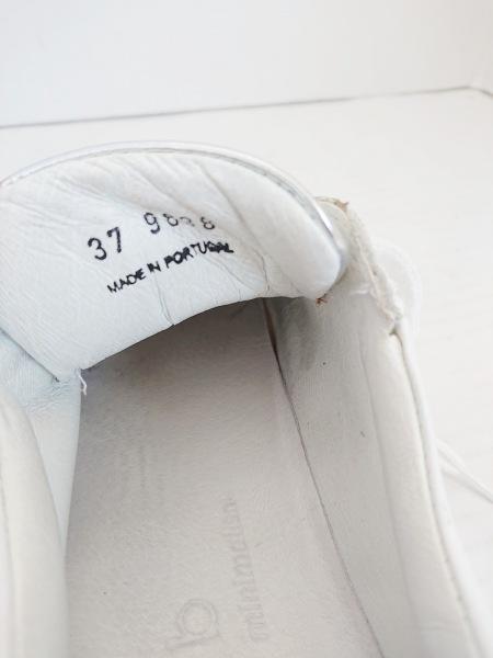 エーエムビー スニーカー 37 レディース 白×シルバー レザー