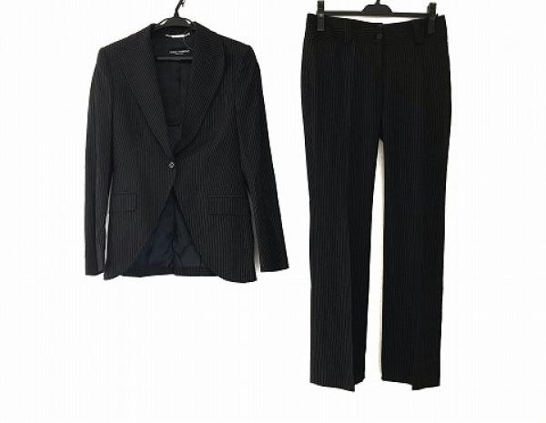 ドルチェアンドガッバーナ レディースパンツスーツ サイズ40 M レディース 黒×白
