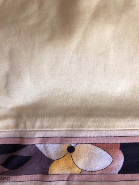 レオナール 半袖カットソー サイズLL レディース イエロー×ブラウン×マルチ