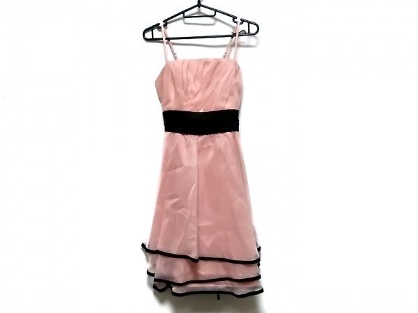 La Defence(ラデファンス) ドレス サイズ9 M レディース ピンク×黒 リボン