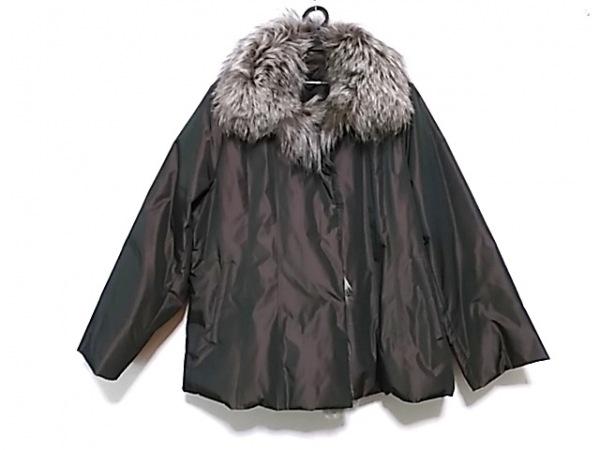 Leilian(レリアン) ダウンジャケット サイズ13 L レディース ダークブラウン×マルチ