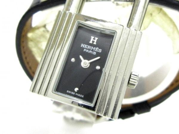 HERMES(エルメス) 腕時計 ケリーウォッチ KE1.210 レディース 革ベルト/□D 黒