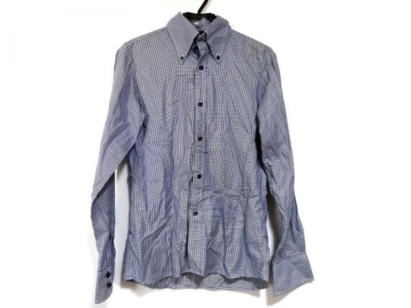 リーツテイラーザズー 長袖シャツ サイズ38 M メンズ美品  ブルー×白 千鳥格子