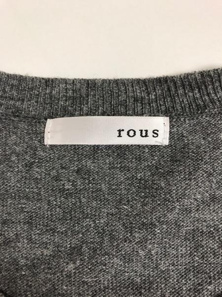 rous(ラス) 長袖セーター サイズ38 M レディース グレー×黒×アイボリー 気球