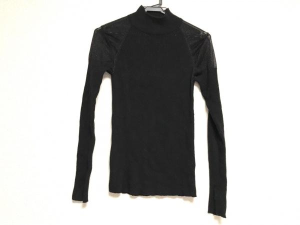 フレイアイディー 長袖セーター サイズF レディース 黒 シースルー/ラメ/ハイネック